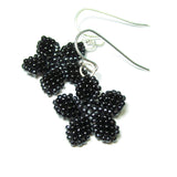 Heart in Hawaii Pua Kawaii - Tiny Plumeria Dangles in Black with Hematite