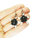 Heart in Hawaii Beaded Starfish Dangles - Black and White