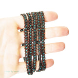 "Heart in Hawaii Extra Long 40"" Beaded Necklace - Bronze and Teal Green"