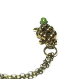 Heart in Hawaii Small Honu Pendant - Beaded Sea Turtle in Bronze