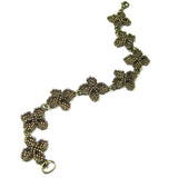 Heart in Hawaii Quatrefoil Ixora Flower Beaded Bracelet - Bronze
