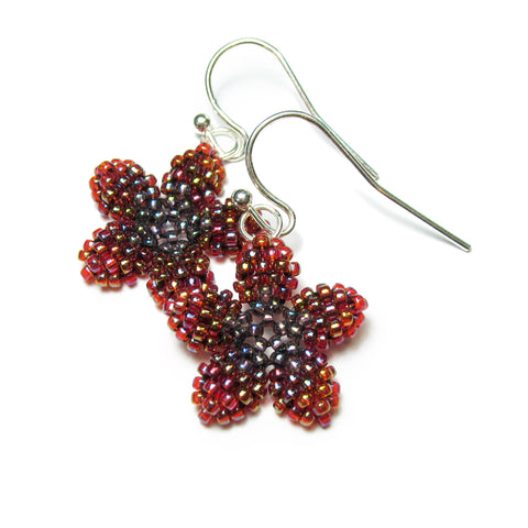 Heart in Hawaii Pua Kawaii Beaded Flower Dangles - Canyon Sunset