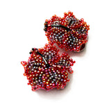 Heart in Hawaii Beaded Hibiscus Clips - set of 2 - Canyon Sunset