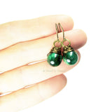 Heart in Hawaii Bronze Kahiko Earrings - Cat's Eye