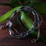 Temple Tree Lost Circuitry Beadwoven Lanyard with Rivets - trAnsist0r 38v1