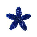 Heart in Hawaii Beaded Plumeria Flower - Cobalt Blue - 3 sizes