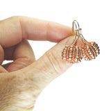 Heart in Hawaii Tiny Beaded Metallic Pumpkin Earrings