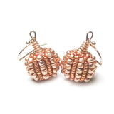 Heart in Hawaii Tiny Beaded Pumpkin Earrings - Copper