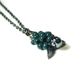 Heart in Hawaii Small Honu Pendant - Beaded Sea Turtle in Dark Green