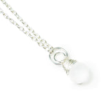 Heart in Hawaii Frosted Glass Ball and Crescent Moon Kahiko Pendant