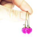 Heart in Hawaii Tiny Beaded Heart Drops - Fuchsia