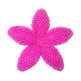 Heart in Hawaii Beaded Plumeria Flower - Fuchsia Pink