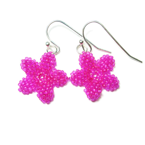 Heart in Hawaii Pua Kawaii - Tiny Plumeria Dangles in Fuchsia