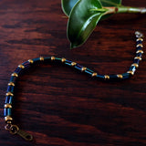 Temple Tree Bamboo Weave Beaded Bracelet - Galactic Blue Bugels