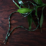 Temple Tree Lost Circuitry Beadwoven Mask Lanyard with Rivets - Green