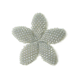 Heart in Hawaii Beaded Plumeria Flower - Dove Grey - 3 sizes