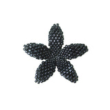 Heart in Hawaii Beaded Plumeria Flower - Hematite - 3 sizes