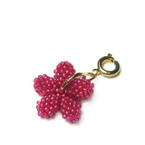 Heart in Hawaii Tiny Plumeria Flower Clasp Charm - Hot Pink