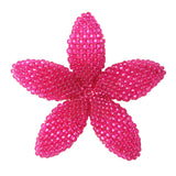 Heart in Hawaii Beaded Plumeria Flower - Ruby Pink - Large