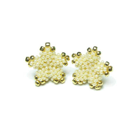 Heart in Hawaii Tiny 15mm Plumeria Flower Studs - Ivory