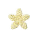 Heart in Hawaii Beaded Plumeria Flower - Ivory Pearl - 3 sizes