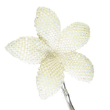 Heart in Hawaii Beaded Plumeria Hair Flower - Ivory Satin