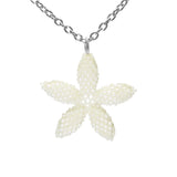 Heart in Hawaii Tiny 1-inch Pua Plumeria Pendant with Chain - Ivory
