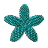 Heart in Hawaii Beaded Plumeria Flower - Jungle Green - Large