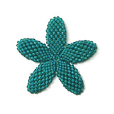 Heart in Hawaii Beaded Plumeria Flower - Jungle Green - Medium
