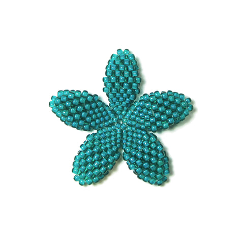 Heart in Hawaii Beaded Plumeria Flower - Jungle Green - Small