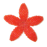 Heart in Hawaii Beaded Plumeria Flower - Lava - 3 sizes