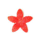 Heart in Hawaii Beaded Plumeria Flower - Lava - Small