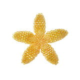 Heart in Hawaii Beaded Plumeria Flower - Light Orange - 3 sizes