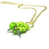 Heart in Hawaii Small Honu Pendant - Beaded Sea Turtle in Lime Green