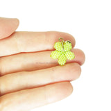 Heart in Hawaii Tiny Beaded Plumeria Clasp Charm - Lime