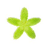 Heart in Hawaii Beaded Plumeria Flower - Lime Green - Medium