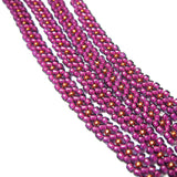 "Heart in Hawaii Extra Long 40"" Beaded Necklace - Magenta and Copper"