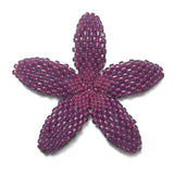 Heart in Hawaii Beaded Plumeria Flower - Magenta