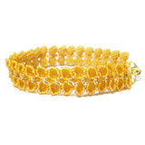 Heart in Hawaii Maile Inspired Beaded Leaf Vine Bracelet - Mango