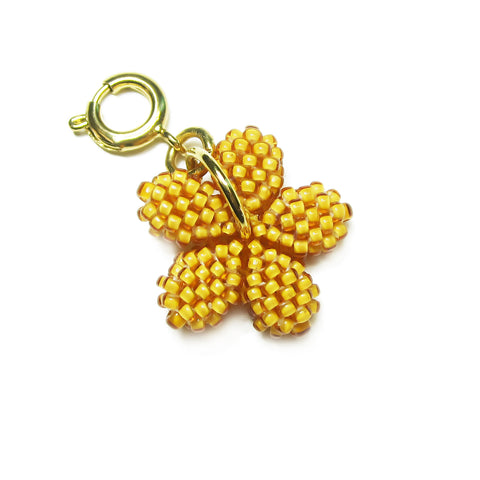 Heart in Hawaii Tiny Plumeria Flower Clasp Charm - Mango