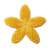 Heart in Hawaii Beaded Plumeria Flower - Mango - Large