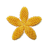 Heart in Hawaii Beaded Plumeria Flower - Mango - Medium