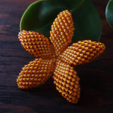 Heart in Hawaii Beaded Plumeria Flower - Mango - 3 sizes