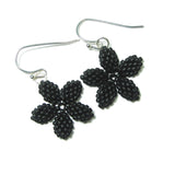 Heart in Hawaii Pua Kawaii - Tiny Plumeria Flower Earrings - Black Lava