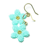 Heart in Hawaii Pua Kawaii - Tiny Plumeria Dangles in Mint with Gold