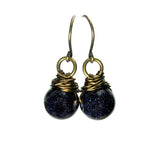 Heart in Hawaii Bronze Kahiko Earrings - Navy Goldstone