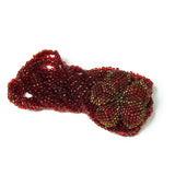 "Heart in Hawaii Extra Long 40"" Beaded Necklace with Optional Flower Clip - Dark Red and Bronze"
