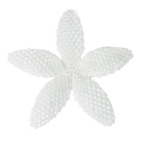 Heart in Hawaii Beaded Plumeria Flower - Opaque White -