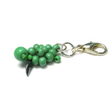 Heart in Hawaii Small Honu Charm - Beaded Sea Turtle in Opaque Green