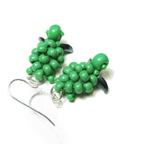 Heart in Hawaii Small Honu Earrings - Beaded Sea Turtle Dangles - Opaque Green